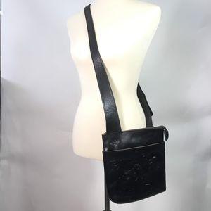 Patricia Nash Bags - Patricia Nash Black Italian Leather Crossbody Bag